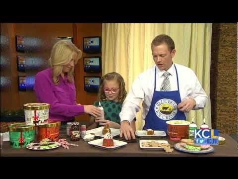 Blue Bell Ice Cream, actress Bebe Wood make mini gingerbread houses