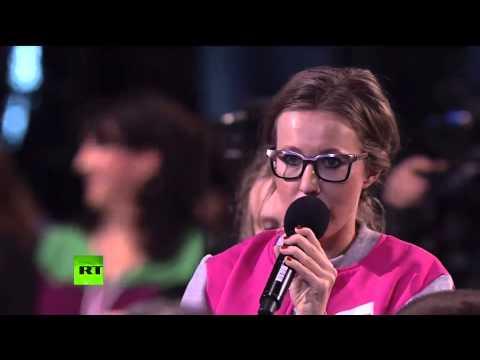 Собчак вопросы Путину о Чечне, Кадырове, Бандерлогах и распятом мальчике