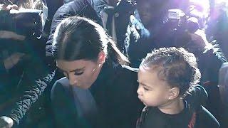kim kardashian kanye west north paris fashion week 24 september 2014