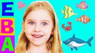 🌊 Кто живёт в море? 🎣 Морские животные, обитатели морей и океанов 🌅 Обучающее видео по карточкам.