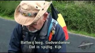 Belgische pelgrim vloekt erop los