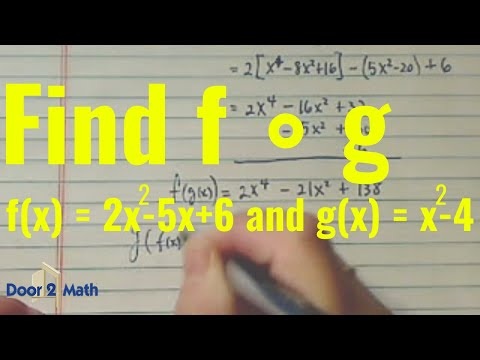 How To Find Composite Function   Find F  U00b7 G  When F X    2x 2 - 5x   6  And G X    X 2