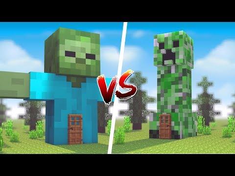 Minecraft: CASA DE ZUMBI VS. CASA DE CREEPER ‹ JUAUM ›