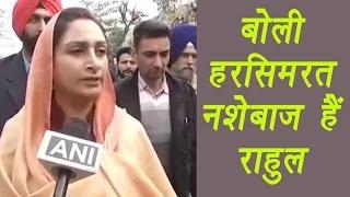 harsimrat kaur badal says rahul gandhi must be on drugs watch video   वनइ ड य ह न द
