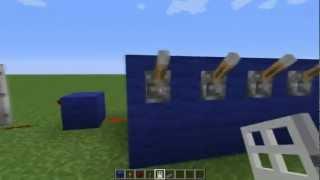 Дверь с кодовым замком в Minecraft
