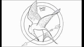 How to Draw a Hunger Games Logo Mockingjay Pin