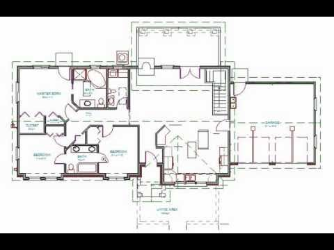 h87 Ranch house Plan 3 bdrm 2 bath 1400 sq ft  YouTube