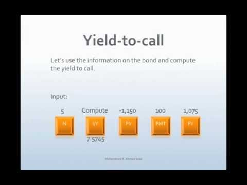 Bond Yield to Call
