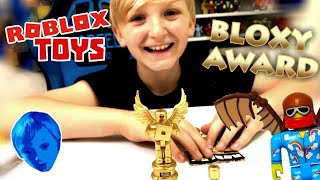 I Got THE BLOXY AWARD!!! #Robloxtoys Unboxing The Bloxy Award and The Clouds Flyer & code items