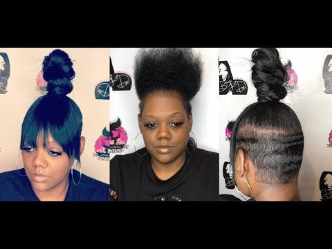 Top Knot Bun with Finger Waves Short Hair Cut