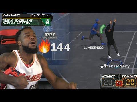 NAIL BITER GAME WINNER! BREAKING PLAYGROUND BIGGEST STREAKS! WITH A GIRL! NBA 2k18 PlayGround
