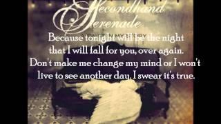 Fall For You Secondhand Serenade Lyrics
