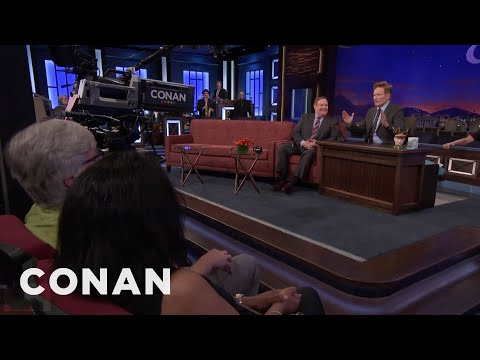 Conan's New Desk Is Much Closer To The Studio Audience  - CONAN on TBS