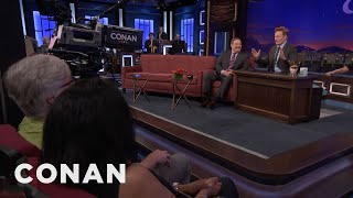 Conan's New Desk Is Much Closer To The Studio Audience  - CONAN on TBS thumbnail
