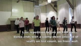 """Prairie Strut"" Line Dance ~ 4-Wall, 48-Count, Beginning ~ by Hedy McAdams ~ Demo & Stepsheet"