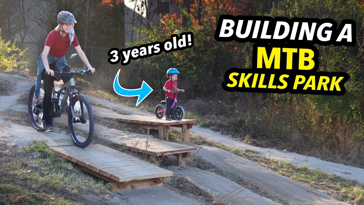Building and Donating an Entire Mini Mountain Bike Park for KIDS!!