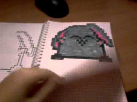 картинки рисунки в клетку в тетради