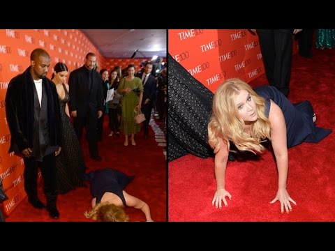 Amy Schumer FAKE FALLS In Front of Kimye | What's Trending Now