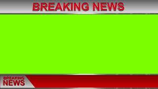 Breaking News #5 Green Screen 1080p Royalty Free#