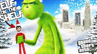 The GRINCH gets an ELF ON THE SHELF in GTA 5