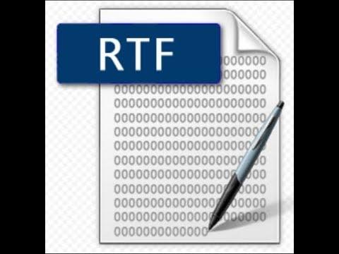 Как открыть файл с расширением RTF