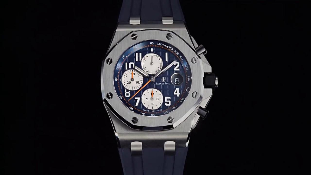 Royal oak offshore chronograph audemars piguet youtube for Royal oak offshore n7243