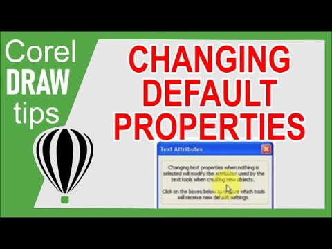 Changing the default text in CorelDraw