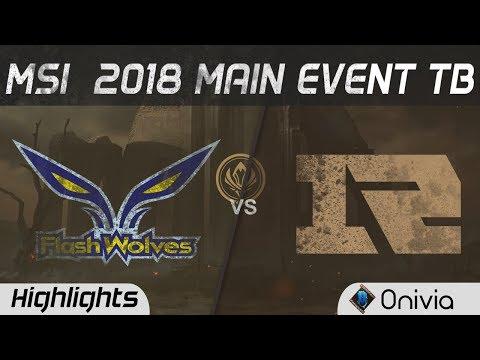 FW vs RNG Tierbrake Highlights Game 1 MSI 2018 Flash Wolves vs Royal Never Give Up by Onivia