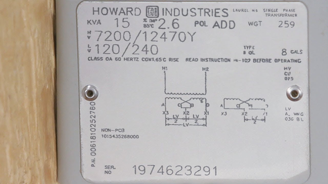 hight resolution of transformer nameplates