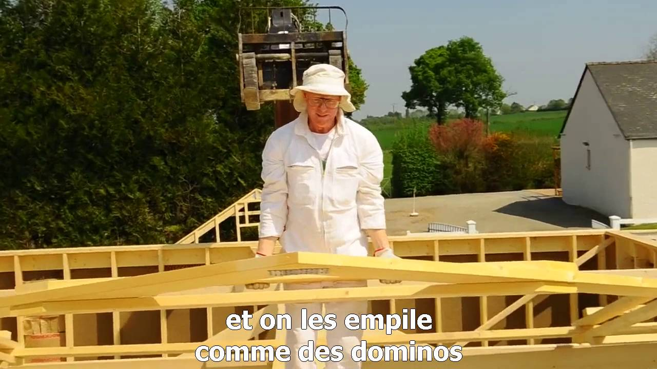 Maison ossature bois en kit Autoconstruction TIRO YouTube # Autoconstruction Maison En Bois
