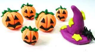 Поделки из пластилина - Хэллоуин своими руками. Видео для детей.