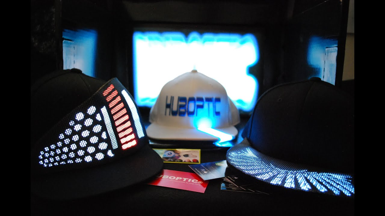 dbc7d465720 Light Up Hat LED SNAPBACK Cap Hat - Futuristic DJ Head Gear Light Up Cap  Sound Reactive