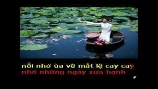 NHO NHUNG NGAY XUA - Tho THUYEN THU -  Pho nhac HAI ANH Karaoke khong loi