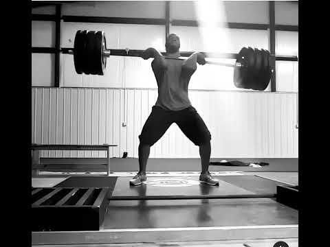 Brad Lester power clean lift ( 335 pounds)