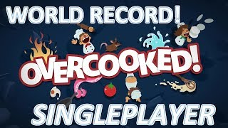 Overcooked World record -  1 Player - Level F.S. 1-4  - Score: 268