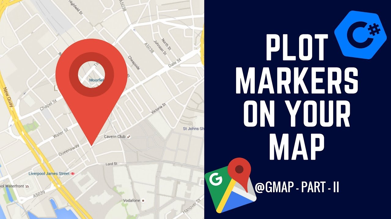 C# GMAP - How to Plot Marker on a Map? - GMap Part II