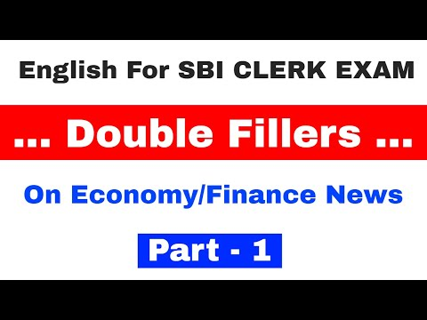 Double fillers on Economy & Finance News for SBI Clerk 2018 Exam | Part 1