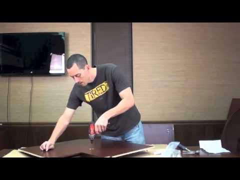 Assembly Instructions Lazy Susan Cabinet 1 of 3 - YouTube