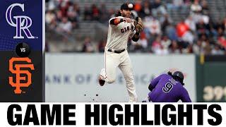 Rockies vs. Giants Game Highlights (8/12/21)