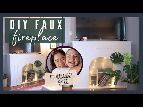 DIY FAUX FIREPLACE MEDIA CONSOLE FT. ALEXANDRA GATER