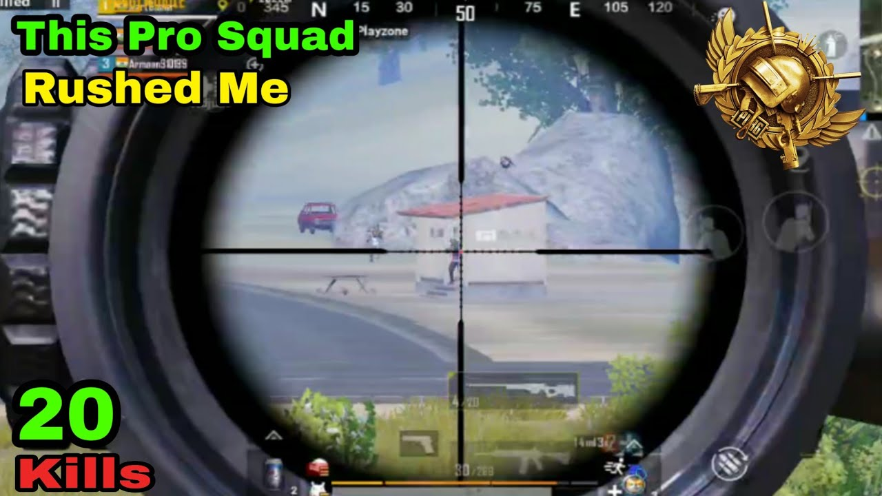 """This""""PRO SQUAD"""" Rushed Me After Sniping in Pubg Mobile by Mart Gamer