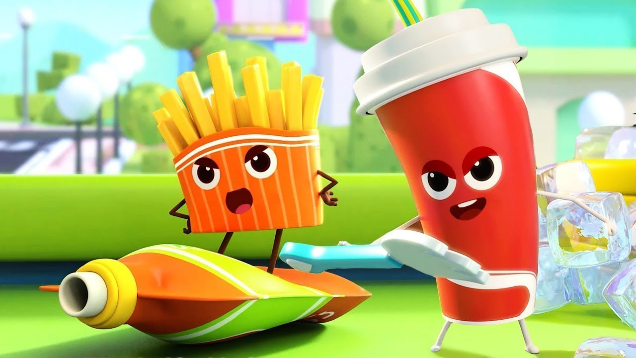 漢堡可樂歌 | 學顏色兒歌童謠 | 卡通 | 動畫 | 寶寶巴士 | BabyBus