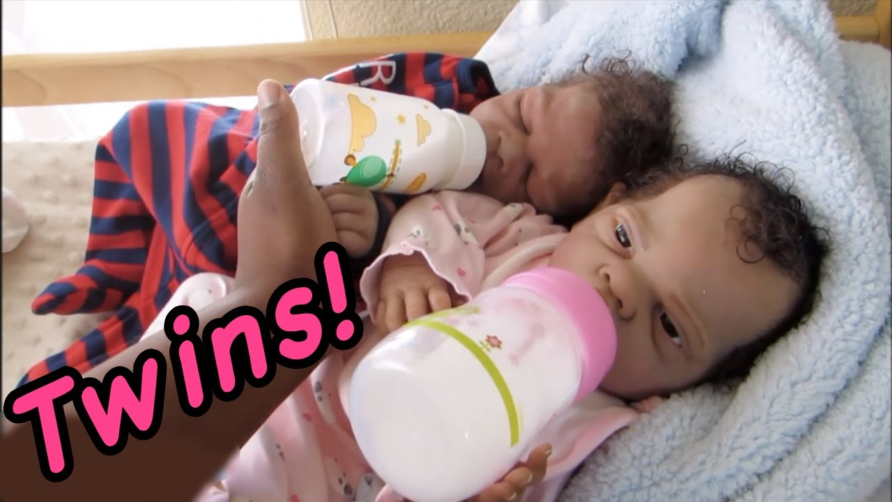Silicone Baby Bottle Feeding Twins Newborn Baby Doll Videos With Baby Winter Youtube