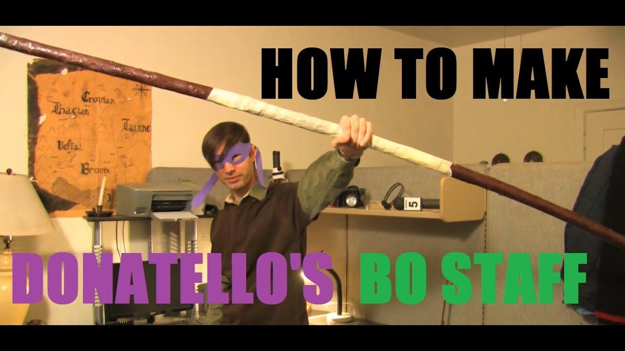 How To Make Donatello S Bo Staff Tmnt Youtube