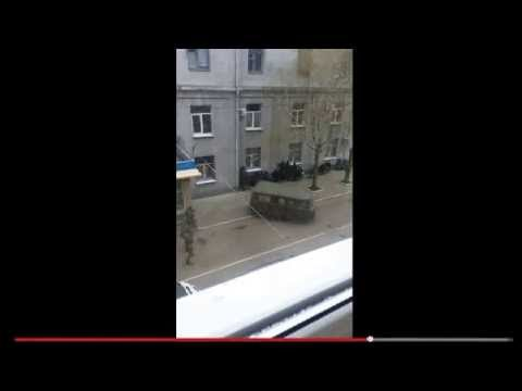 Possible Russian Special Forces seen taking Sloviansk Ukraine Police Station 4/12 c. 7am EDT