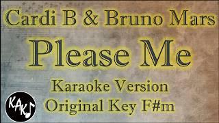 Cardi B Bruno Mars Please Me Karaoke Instrumental Lyrics Cover Original Key F m.mp3