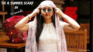 How to tie a Summer Scarf to Protect face from Sun | Perkymegs