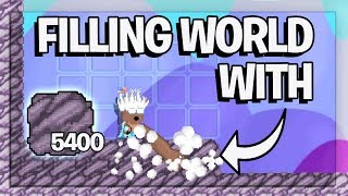 FILLING WORLD WITH 5400+ BEDROCKS | Growtopia