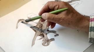 Tutorial // 02 // Ich zeichne mir nen Klecksbild // scribble tactics // in Tinte we trust
