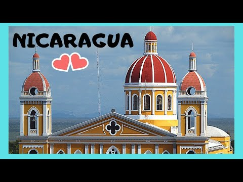 NICARAGUA, the historic CATHEDRAL of GRANADA and its DISNEY WORLD-like murals